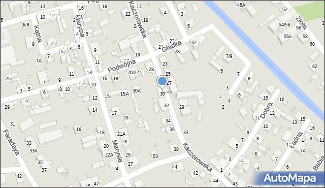 Częstochowa, Kaczorowska, 30, mapa Częstochowy