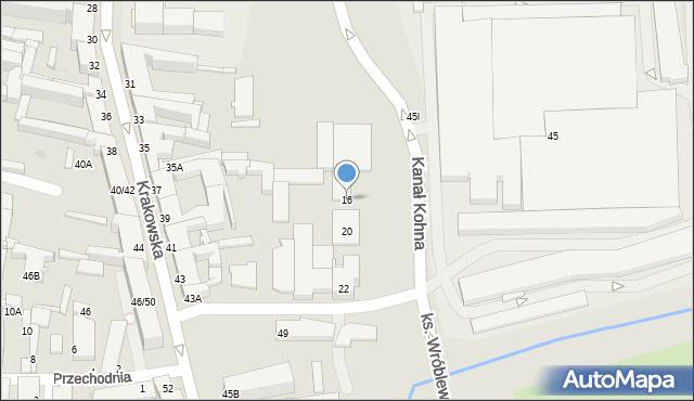 Częstochowa, Kanał Kohna, 16, mapa Częstochowy
