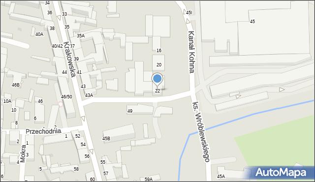Częstochowa, Kanał Kohna, 22, mapa Częstochowy
