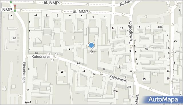 Częstochowa, Katedralna, 10, mapa Częstochowy