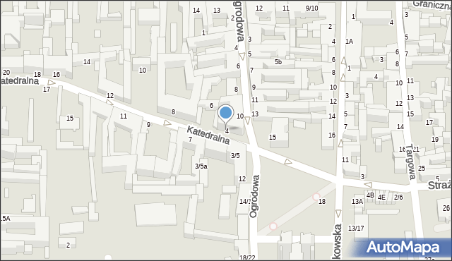 Częstochowa, Katedralna, 4, mapa Częstochowy