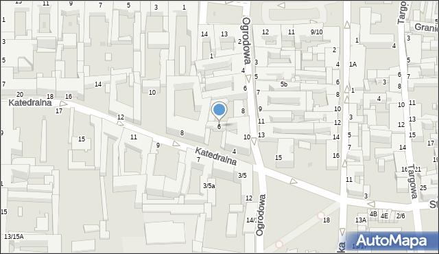 Częstochowa, Katedralna, 6, mapa Częstochowy