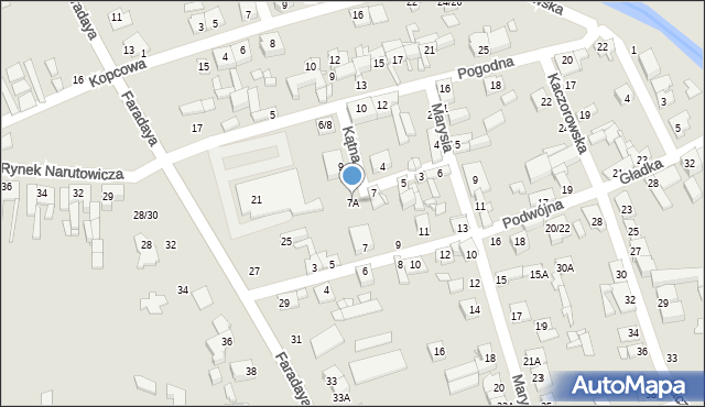 Częstochowa, Kątna, 7A, mapa Częstochowy