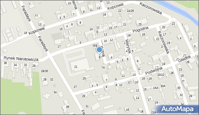 Częstochowa, Kątna, 9, mapa Częstochowy