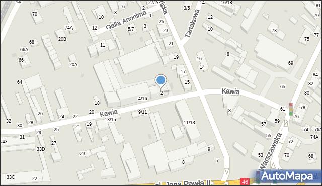 Częstochowa, Kawia, 2, mapa Częstochowy