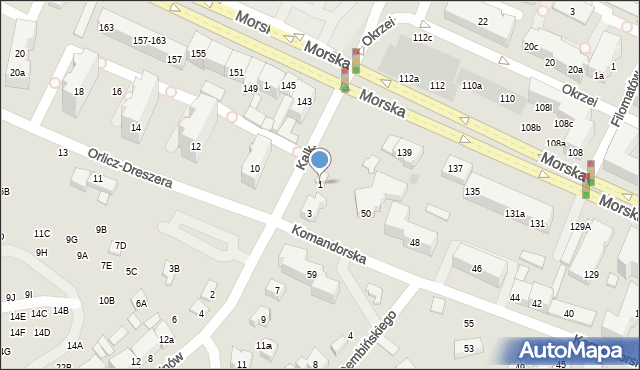 Gdynia, Kalksztajnów, 1, mapa Gdyni