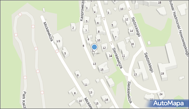 Gdynia, Kasprowicza Jana, 11a, mapa Gdyni