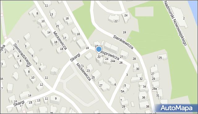Gdynia, Kasprowicza Jana, 22, mapa Gdyni