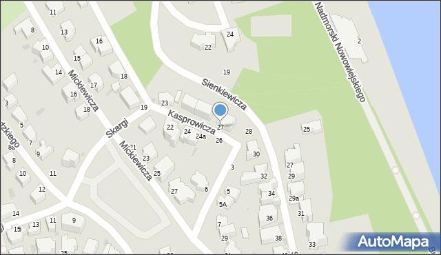 Gdynia, Kasprowicza Jana, 27, mapa Gdyni