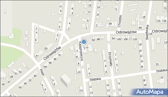 Gliwice, Kasprowicza Jana, 1, mapa Gliwic