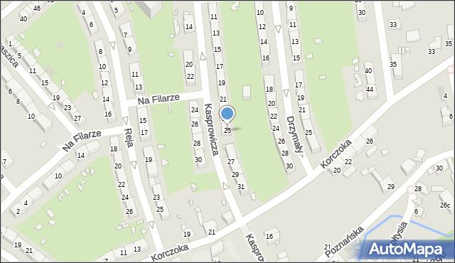 Gliwice, Kasprowicza Jana, 25, mapa Gliwic