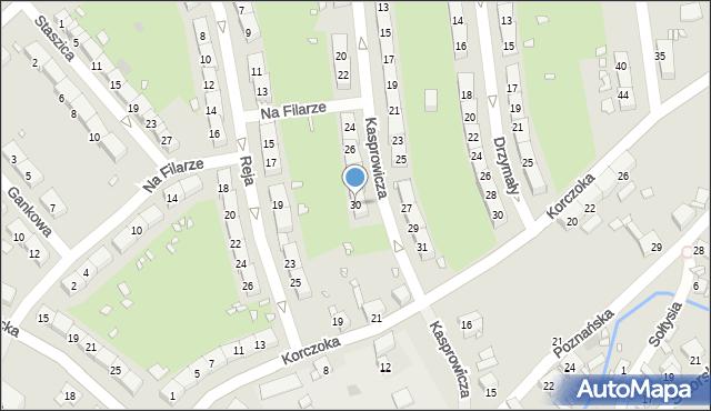 Gliwice, Kasprowicza Jana, 30, mapa Gliwic
