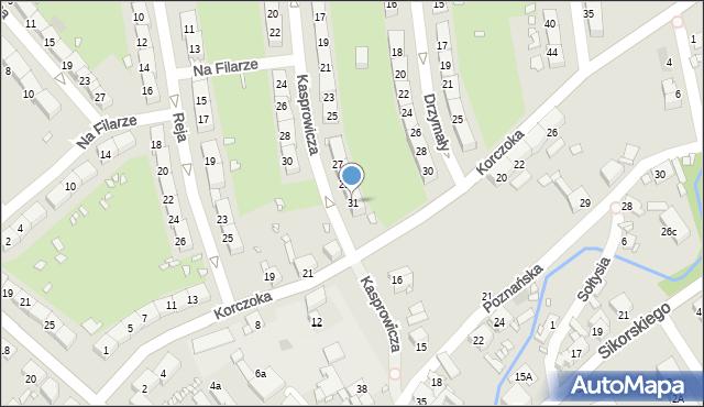Gliwice, Kasprowicza Jana, 31, mapa Gliwic