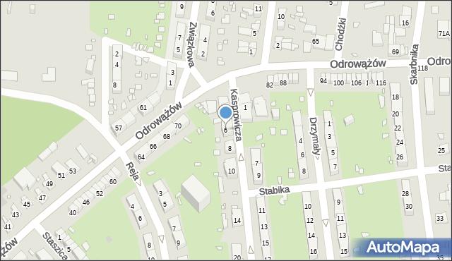 Gliwice, Kasprowicza Jana, 6, mapa Gliwic