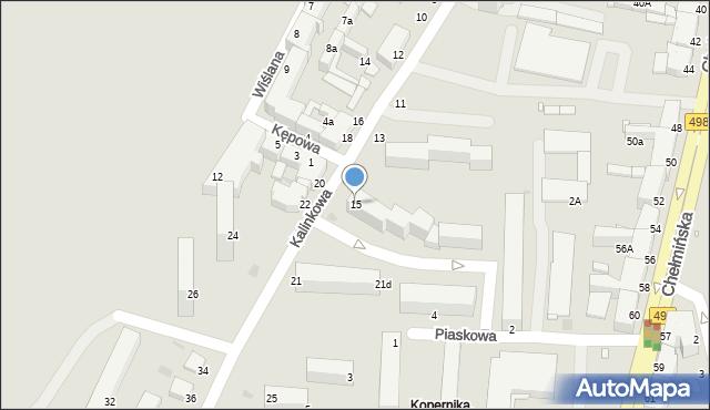 Grudziądz, Kalinkowa, 15, mapa Grudziądza