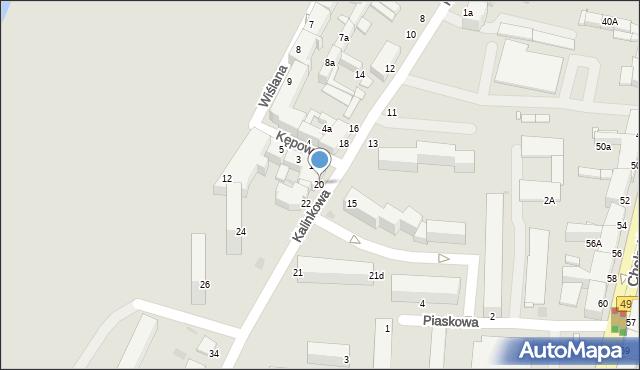 Grudziądz, Kalinkowa, 20, mapa Grudziądza