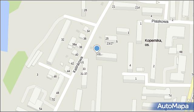 Grudziądz, Kalinkowa, 25, mapa Grudziądza