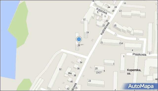 Grudziądz, Kalinkowa, 26, mapa Grudziądza