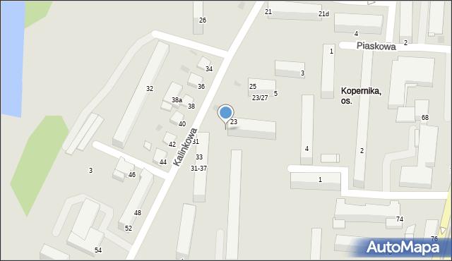 Grudziądz, Kalinkowa, 27, mapa Grudziądza