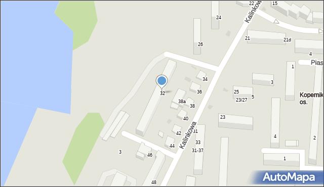 Grudziądz, Kalinkowa, 32, mapa Grudziądza