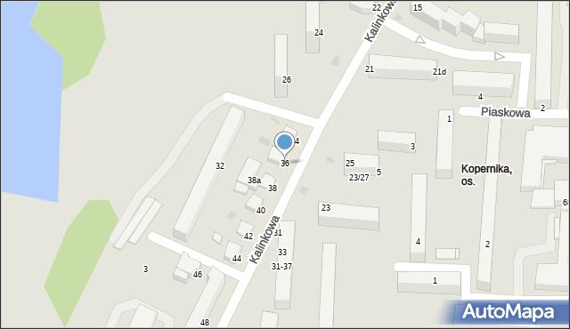 Grudziądz, Kalinkowa, 36, mapa Grudziądza
