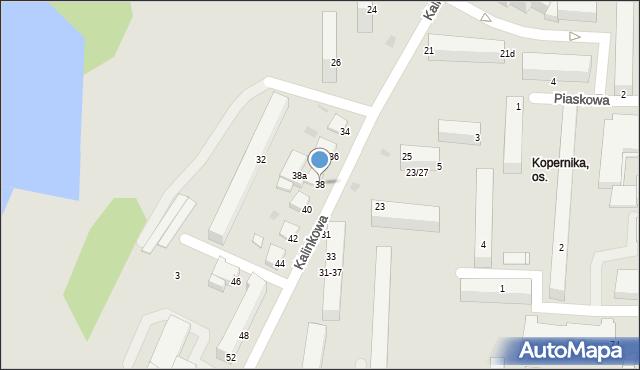 Grudziądz, Kalinkowa, 38, mapa Grudziądza
