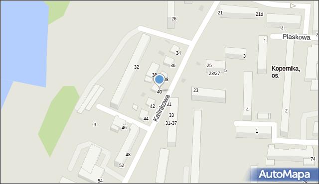 Grudziądz, Kalinkowa, 40, mapa Grudziądza