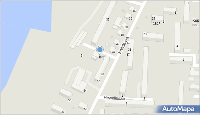 Grudziądz, Kalinkowa, 46, mapa Grudziądza
