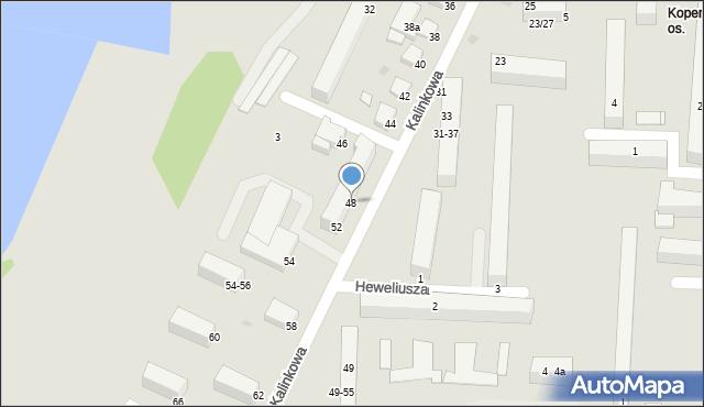 Grudziądz, Kalinkowa, 48, mapa Grudziądza