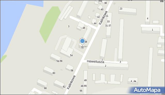 Grudziądz, Kalinkowa, 52, mapa Grudziądza