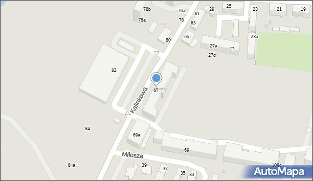 Grudziądz, Kalinkowa, 67, mapa Grudziądza