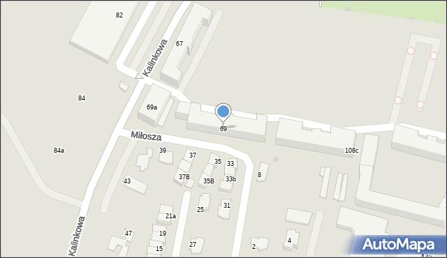 Grudziądz, Kalinkowa, 69, mapa Grudziądza