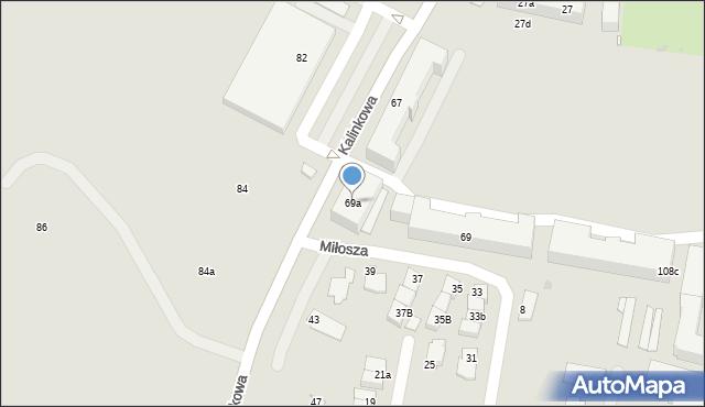 Grudziądz, Kalinkowa, 69a, mapa Grudziądza