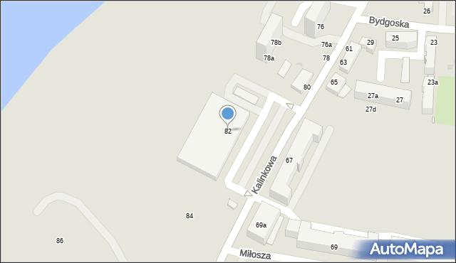 Grudziądz, Kalinkowa, 82, mapa Grudziądza