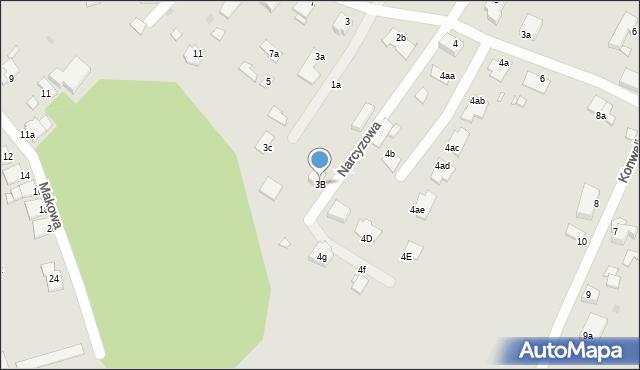 Grudziądz, Kaliowa, 3B, mapa Grudziądza