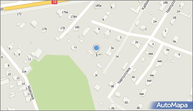 Grudziądz, Kaliowa, 5, mapa Grudziądza