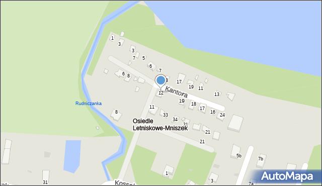 Grudziądz, Kantora Tadeusza Marii, 12, mapa Grudziądza