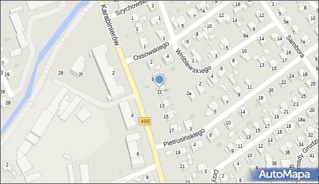 Grudziądz, Karabinierów, 11, mapa Grudziądza