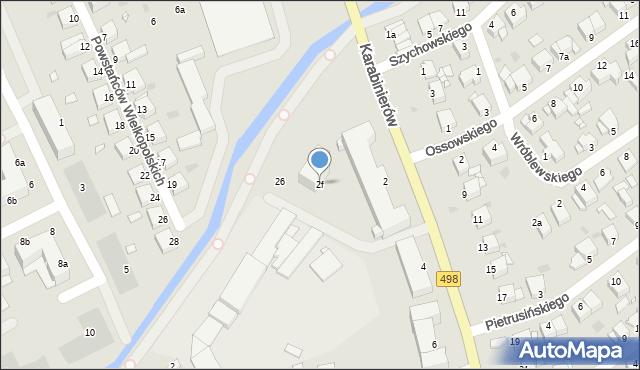 Grudziądz, Karabinierów, 2f, mapa Grudziądza
