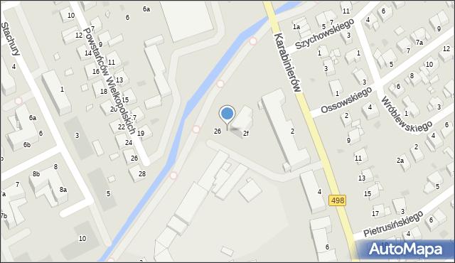Grudziądz, Karabinierów, 2g, mapa Grudziądza