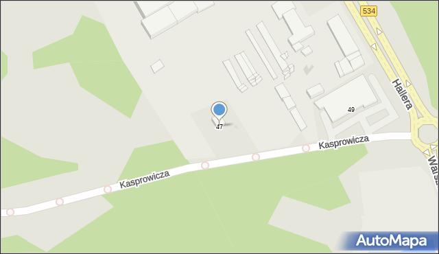 Grudziądz, Kasprowicza Jana, 47, mapa Grudziądza