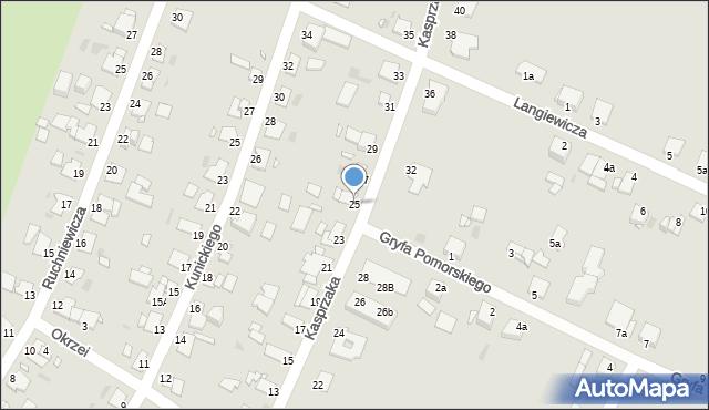 Grudziądz, Kasprzaka, 25, mapa Grudziądza