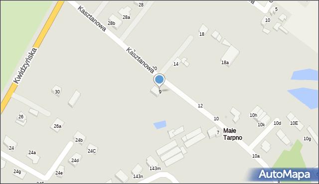 Grudziądz, Kasztanowa, 9, mapa Grudziądza