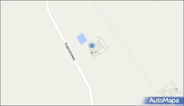 Kajetanowo, Kajetanowo, 12, mapa Kajetanowo