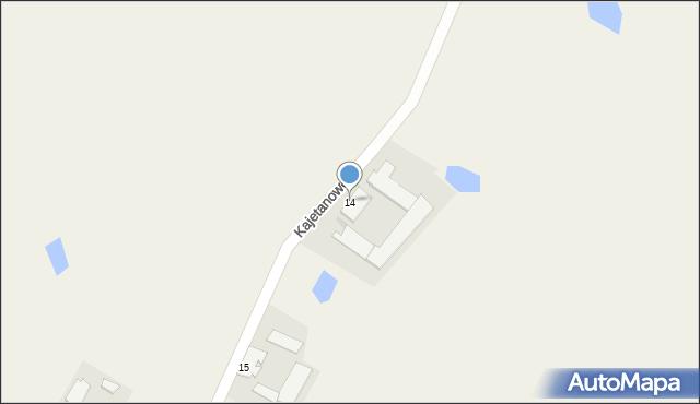 Kajetanowo, Kajetanowo, 14, mapa Kajetanowo
