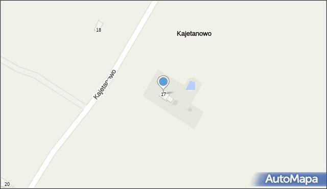 Kajetanowo, Kajetanowo, 17, mapa Kajetanowo