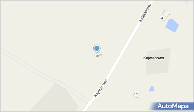 Kajetanowo, Kajetanowo, 18, mapa Kajetanowo