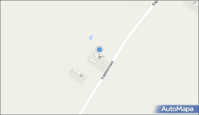 Kajetanowo, Kajetanowo, 20, mapa Kajetanowo