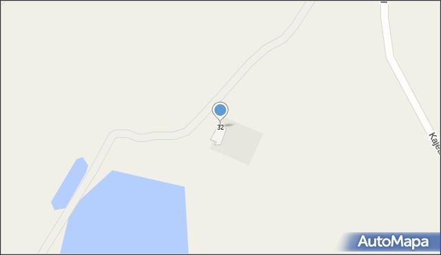 Kajetanowo, Kajetanowo, 32, mapa Kajetanowo