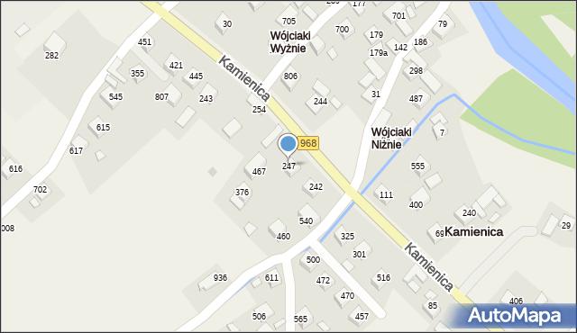 Kamienica, Kamienica, 247, mapa Kamienica